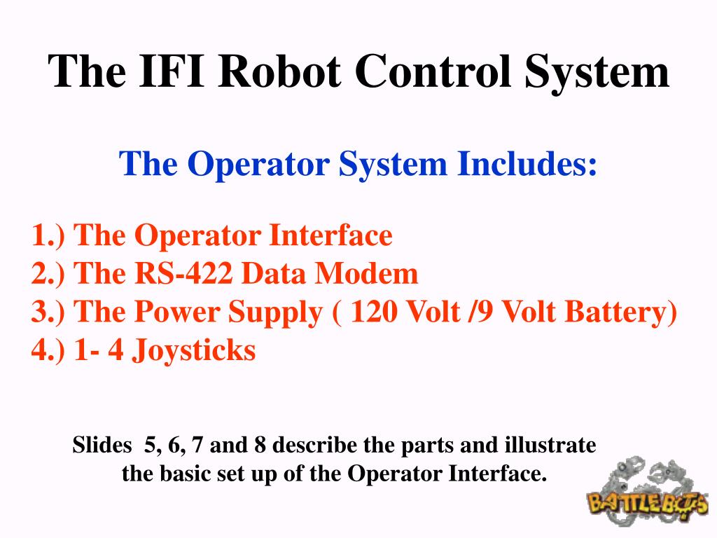 The IFI Robot Control System