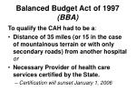 balanced budget act of 1997 bba5