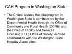cah program in washington state
