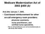 medicare modernization act of 2003 405 b