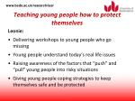 teaching young people how to protect themselves