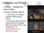 celebrities and politics