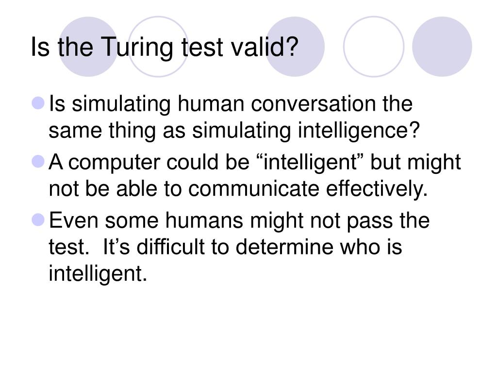 Is the Turing test valid?