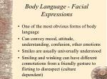 body language facial expressions