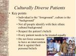 culturally diverse patients4