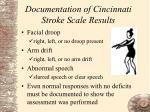 documentation of cincinnati stroke scale results