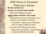 ems protocol treatment pulmonary edema