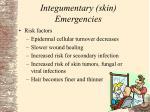 integumentary skin emergencies