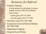 resources for referral18