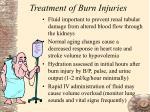 treatment of burn injuries