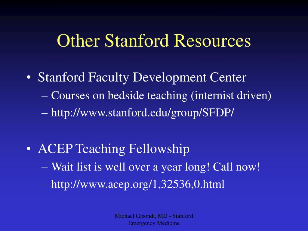 Other Stanford Resources