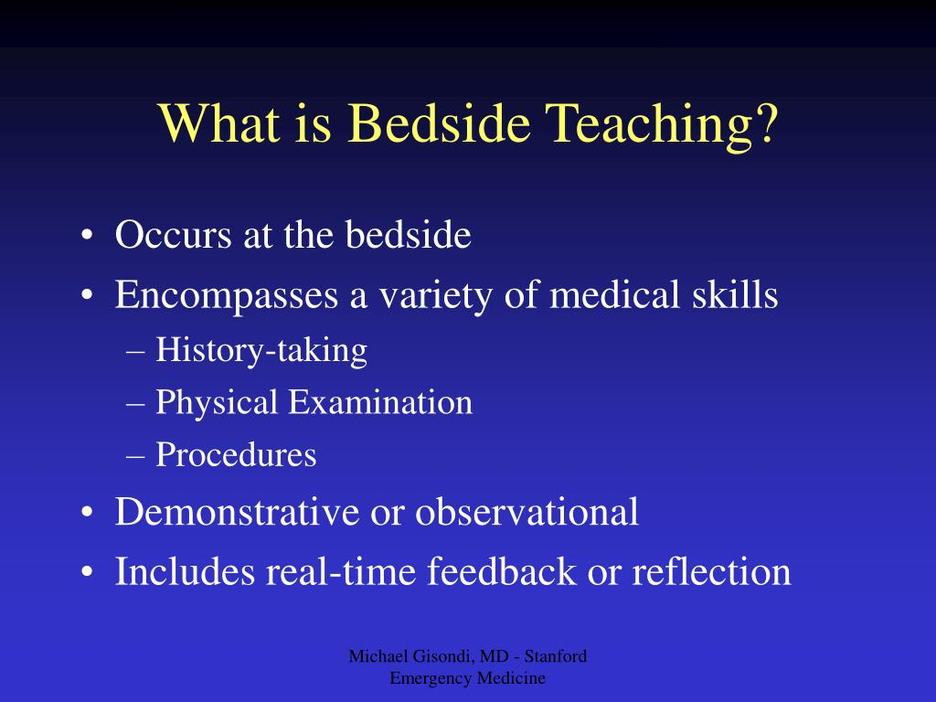 What is Bedside Teaching?