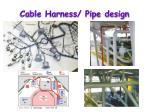 cable harness pipe design