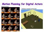 motion planning for digital actors