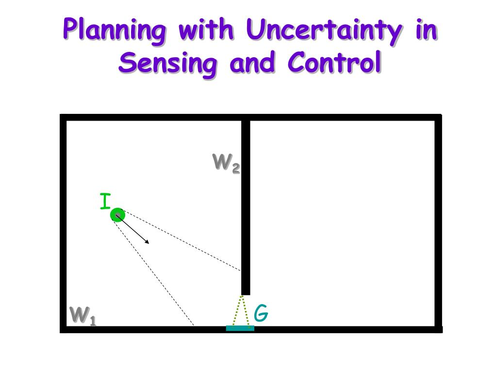 Planning with Uncertainty in Sensing and Control