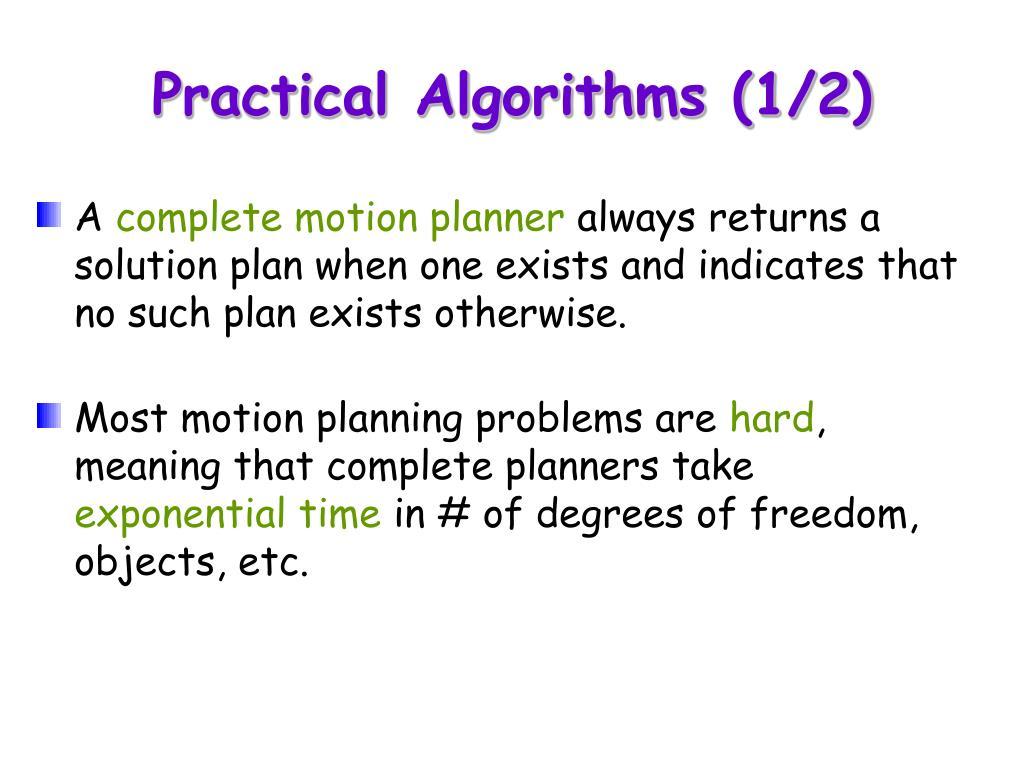 Practical Algorithms (1/2)
