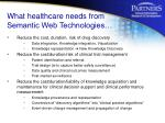 what healthcare needs from semantic web technologies