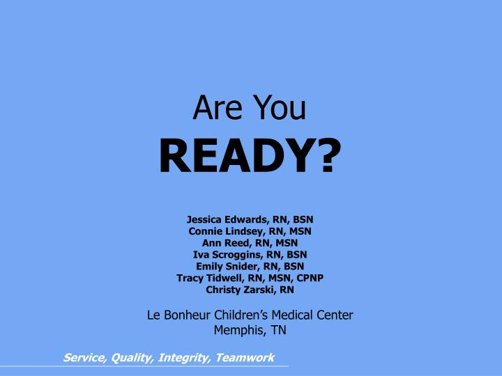 are you ready n.
