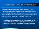 communities and interoperability