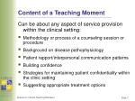 content of a teaching moment