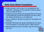 daily goal sheet completion