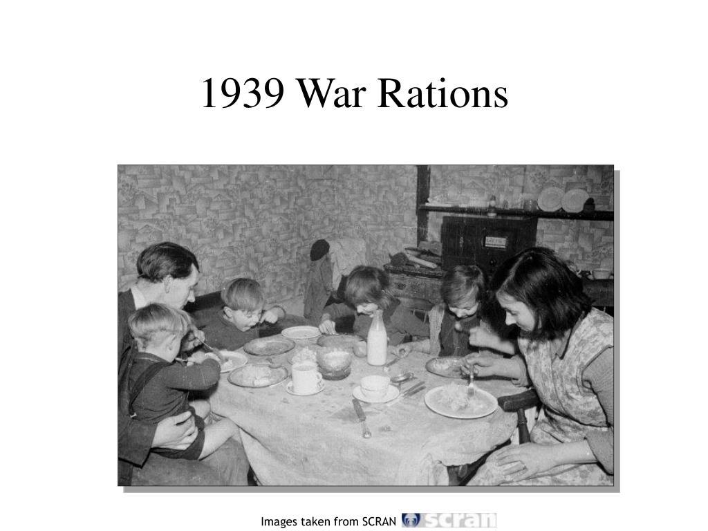 1939 War Rations
