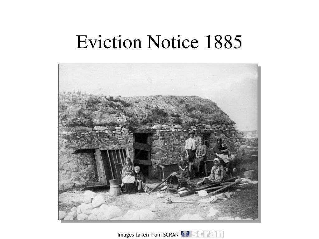 Eviction Notice 1885