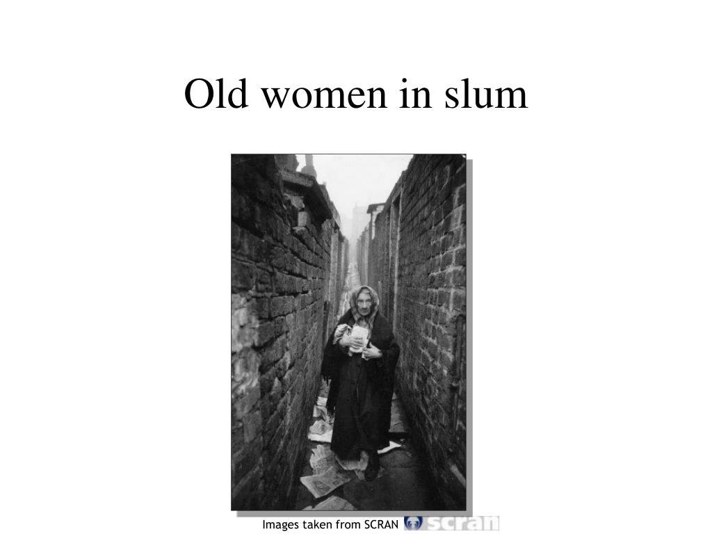 Old women in slum