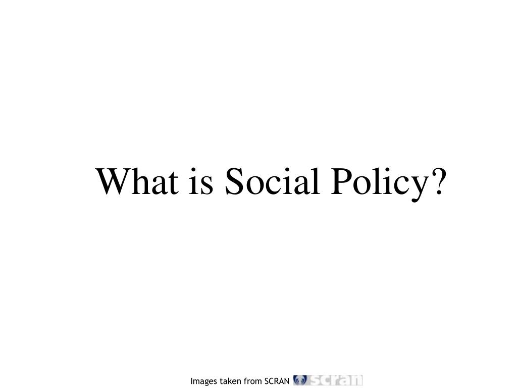 what is social policy l.