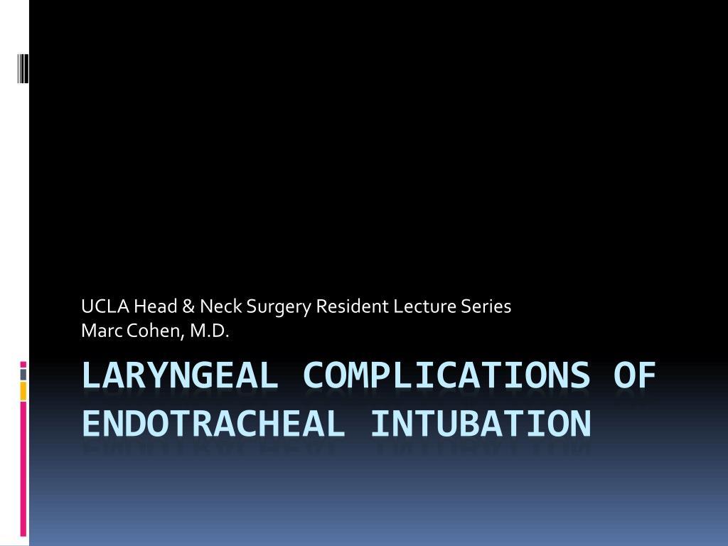 ucla head neck surgery resident lecture series marc cohen m d l.