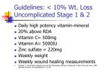 guidelines 10 wt loss uncomplicated stage 1 2