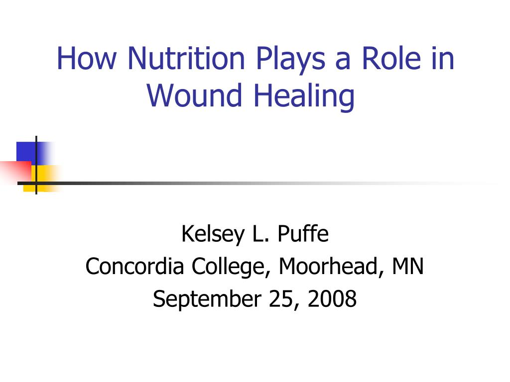 how nutrition plays a role in wound healing l.