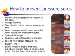 how to prevent pressure sores