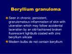 beryllium granuloma