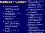 radiation cancer