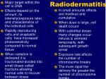 radiodermatitis