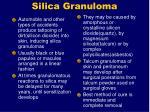 silica granuloma