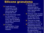 silicone granuloma