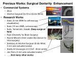 previous works surgical dexterity enhancement