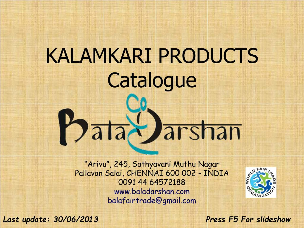 kalamkari products catalogue l.