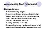 housekeeping staff continued6