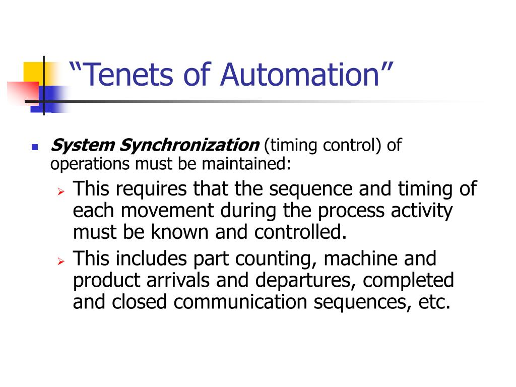 """""""Tenets of Automation"""""""