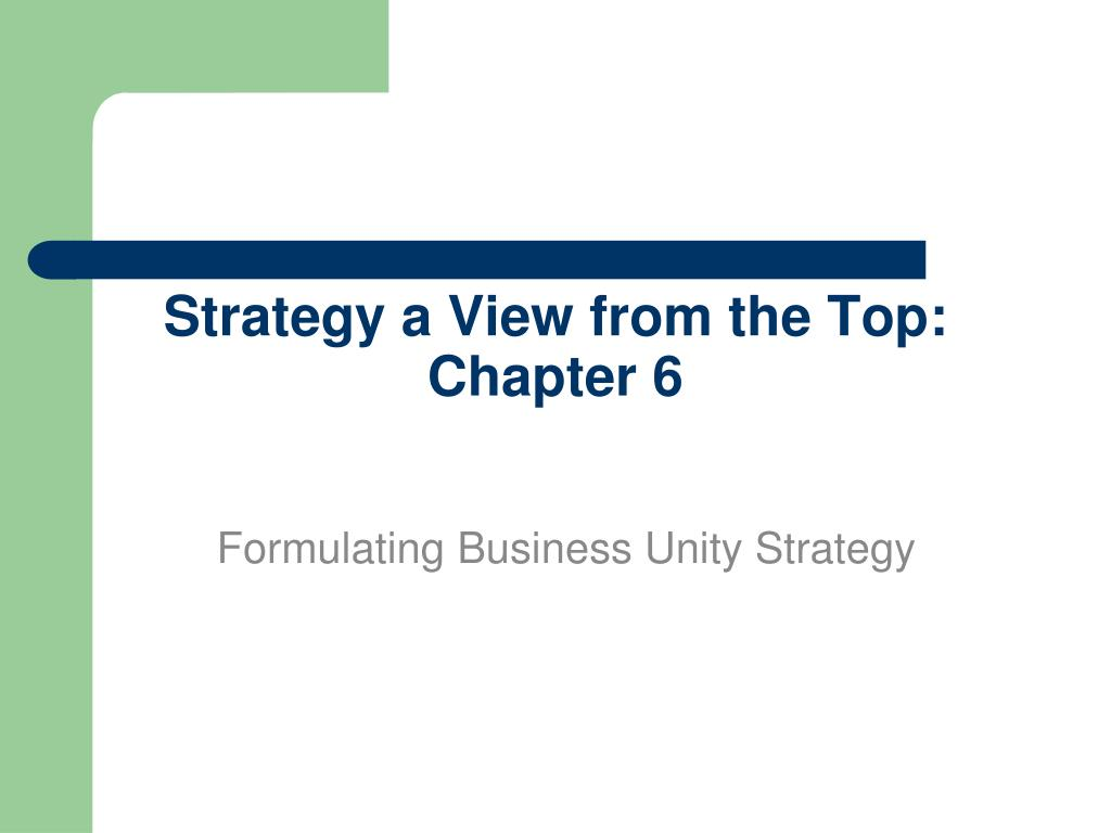 strategy a view from the top chapter 6 l.