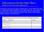 subcutaneous insulin order sheet bedtime and 2am insulin adjustments