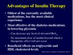 advantages of insulin therapy
