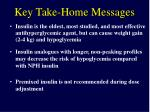 key take home messages