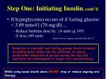 step one initiating insulin cont d34
