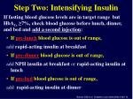 step two intensifying insulin