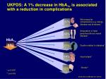 ukpds a 1 decrease in hba 1c is associated with a reduction in complications