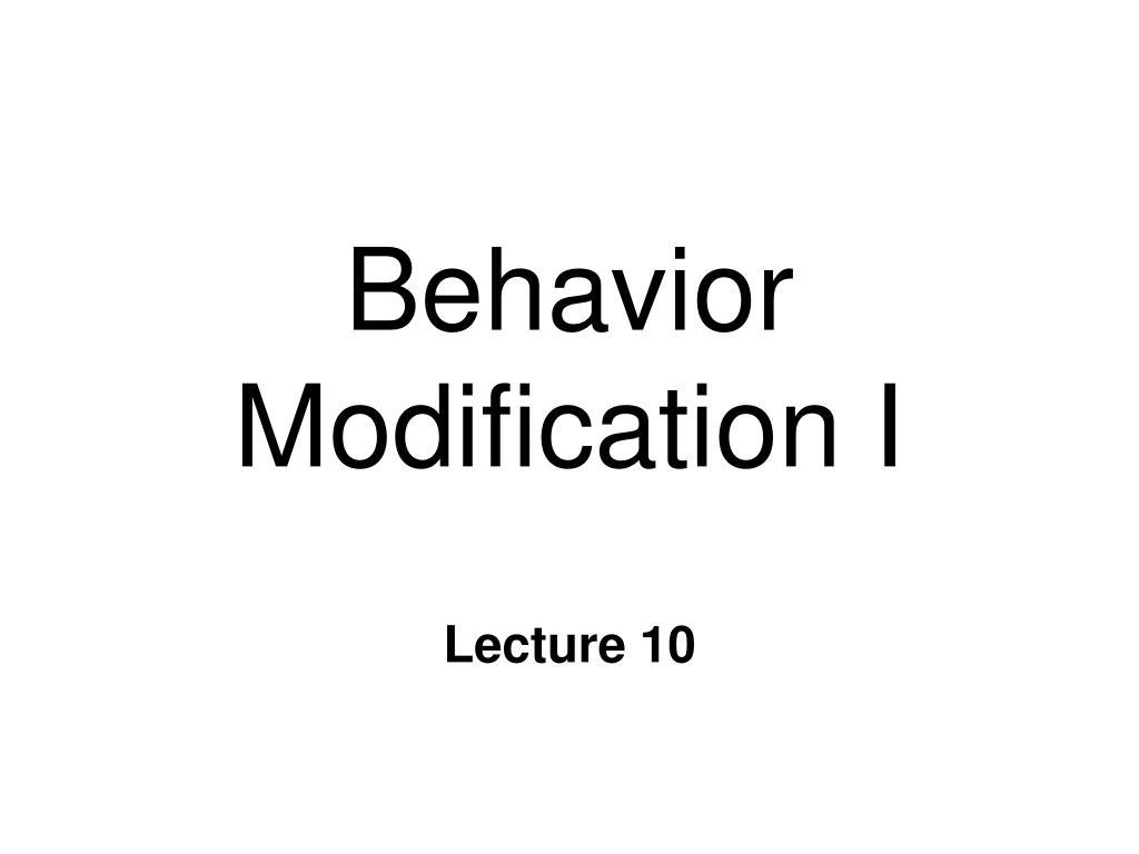 behavior modification i l.